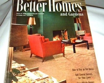 1947 Better Homes and Gardens Magazine Mid-Century Modern Furnishings, Vintage  Auto Ads, Recipes