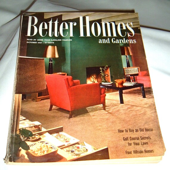 1947 Better Homes And Gardens Magazine Mid Century Modern