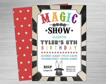 Custom 8.5 x 11 Magic Show Flyer