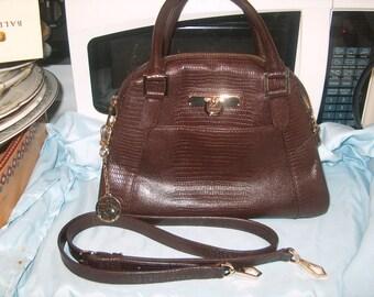 Vintage DKNY  Donna Karan New York Handbag, Brown Leather, Women's, WAS 50.00 - 25% = 37.50