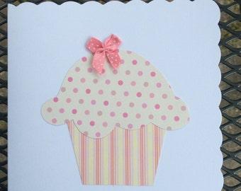Handmade Cupcake greetings card