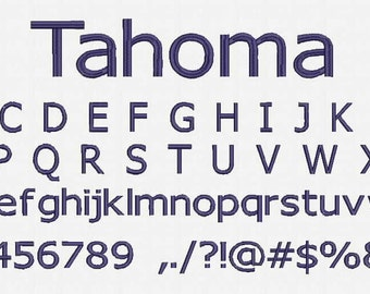 Tahoma Font Embroidery Design Now Come with .BX Ready Font!