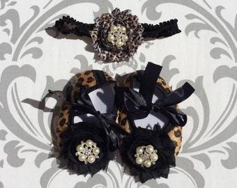 Cheetah Baby Shoes, Animal Print Baby Shoes,Bling Baby Shoes, Rhinestone Baby Shoes, Cheetah Headband, Cheetah Newborn Props, Cheetah Baby