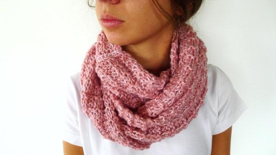 Bufanda para mujer rosa Cuellos de lana tejidos a mano 64977627967