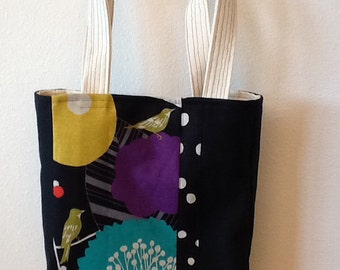 Polka Dot Birds Shoulder Bag
