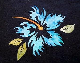 Wicked Hibiscus Flower Quilting Applique Pattern Design