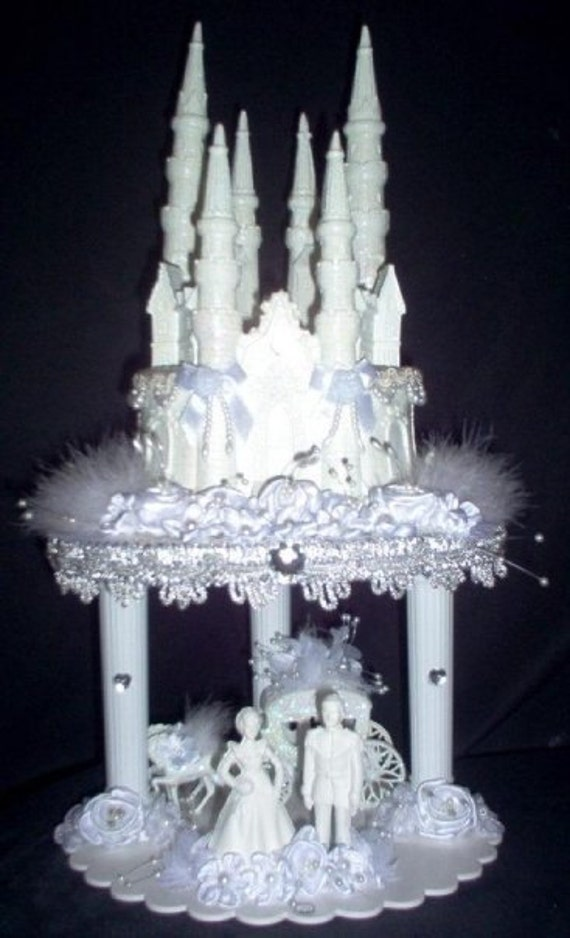 lighted cinderella castle wedding cake topper unavailable listing on etsy 16859