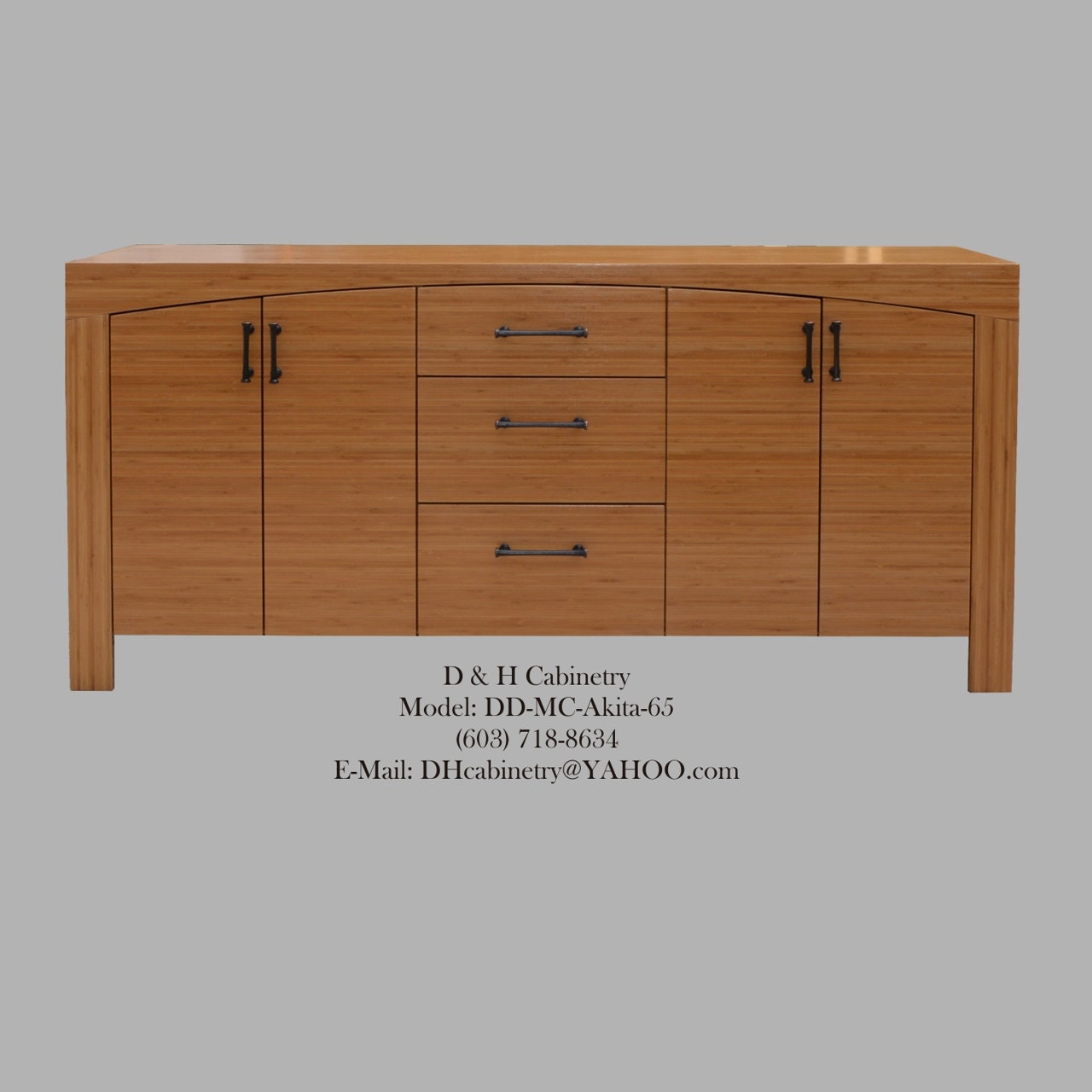 60 72 Modern Bamboo Bathroom Vanity Bamboo by DandHCabinetry