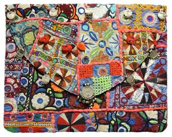 Kuchi Clutch - Boho Banjara Gypsy Tribal Handbag