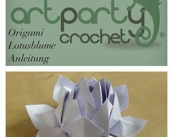 Artparty Origami Lotus Flower Diagram/ Tutorial/ Pattern