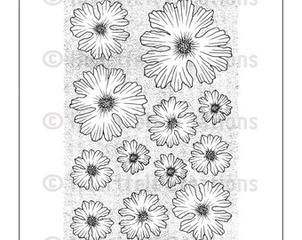 Heartfelt Creations Cling Rubber Stamp Set HCPC3578 ~ Majestic Morning Background ~