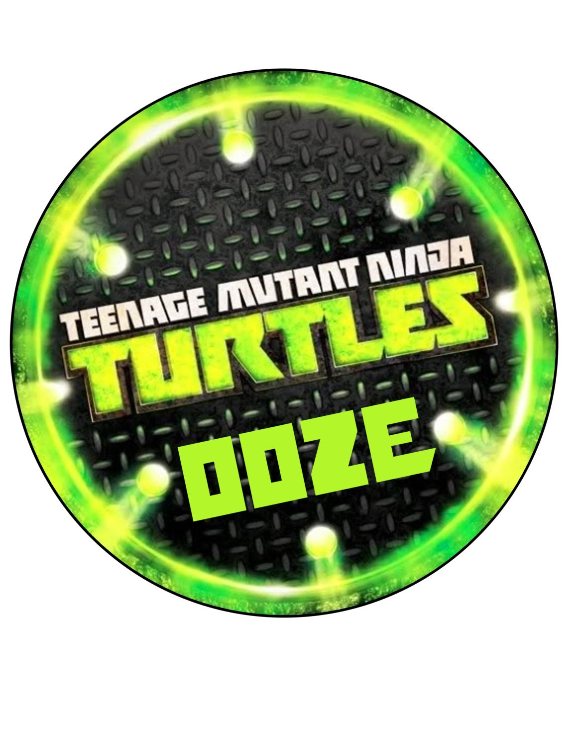 Printable TMNT 8 Sewer Lid Cover By KellieBDesigns On Etsy