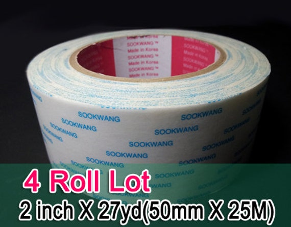 Sookwang Double Sided Adhesive Tape 4 Roll Lot 2 Inch X 27
