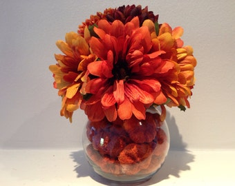 Autumn Harvest / Fall Floral Decor / Thanksgiving Decoration / Harvest Arrangement /  Wedding Centerpiece / Quinceanera