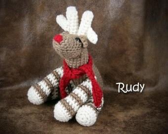 Rudy the Reindeer - Medium Stuffed Reindeer Toy - Christmas, Holiday