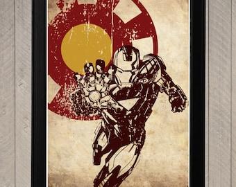 Iron Man Minimalist Poster, Movie Poster, Art Print