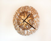 Tree shaped wooden laser cut wall clock