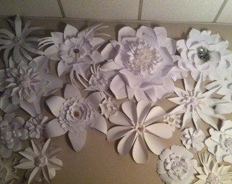 Paper Flower Wall Arrangement