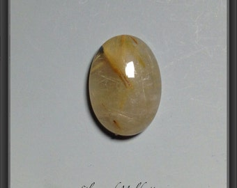 Golden rutilated quartz  cabochon 13x18mm
