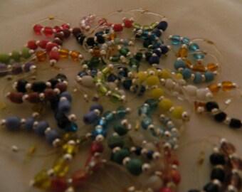 Toe Rings, Wholesale Lot Toe Rings, Seed Bead Toe Rings, 25 Piece Toe Rings