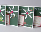 Do not open til Christmas Die-cut Snowflake Folded Tags or Package Labels 3.5 x 3.5 inch - Set of 4 - RollingIdeas