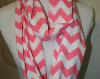 Pink Pastel Chevron Infinity Scarf