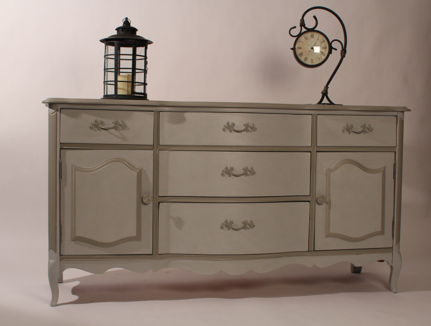 Vintage Dresser In Paris Grey And French Linen Annie Sloan
