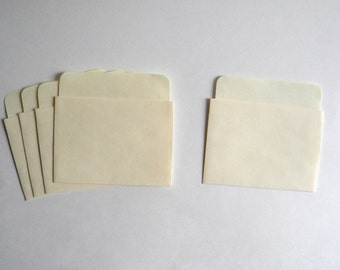 50 Manila Low Back Book Pockets, Library Card Pockets, Library Pockets, Jornal Pockets,