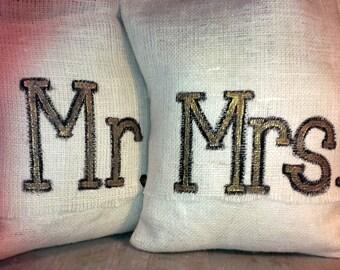 Rustic Burlap Pillow with Custom Image