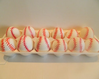 Baseball Cascarones (confetti filled eggs)