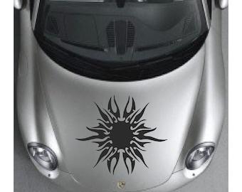 Sun Decal sticker wall art graphics tribal hood paint car auto truck design AA85