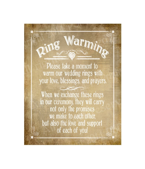 Ring Warming Printable Wedding Sign Instant Download Digital
