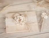 Wood Wedding Guestbook, Rustic Wedding Guestbook, Customized,