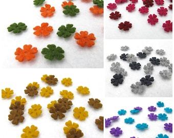 100 Pieces Mini Felt Flower Die Cut|Acrylic Felt|Scrapbook|Supply|Craft