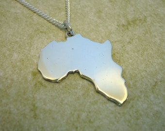 Sterling Silver Africa Pendant (Plain)