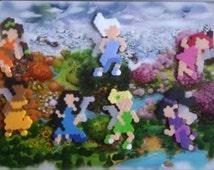 Disney Fairies Perler Bead Magnet Set- Tinkerbell, Silvermist, Iridessa, Vidia, Fawn, Rosetta and Periwinkle