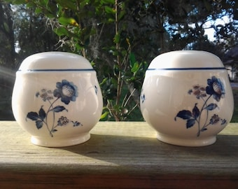 One set Ketlcraft, Ireland, Noritake Blue Chintz 9104 Salt and Pepper Shakers, Mint Condition, HTF