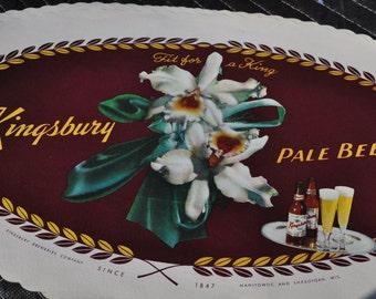 1940's Kingsbury Pale Ale Beer Original Tavern Tray Liners - Old & Original Wisconsin Advertising