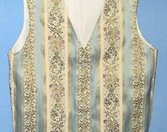 Handmade Women's 4 button Pastel Brocade vest