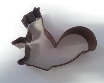 squirrel cookie cutter brown,poly coated cutter, squirrel cutter, cookie supplies