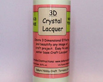 3D Crystal Lacquer 18oz,  Qty - 3