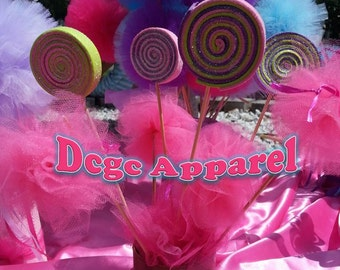 Katy Perry CANDYLAND inspired SWIRL LOLLIPOP Photo Props, Decorations, Centerpieces, Beauty Pageant Prop