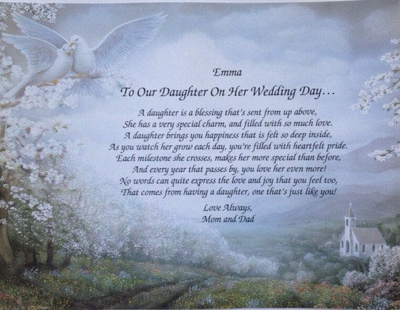 Father Daughter Wedding Gifts: Items Similar To Wedding Gift, For Daughter On Her Wedding