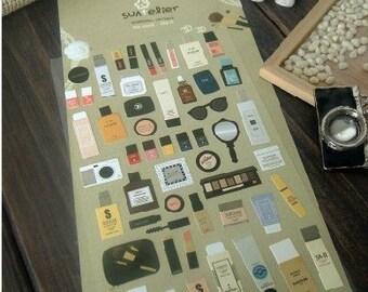 Korean Scrapbook  Stickers, Cosmetics