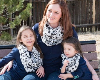 Mother Daughter Matching Outfit ~ Mother Daughter Matching Scarves ~ Fall Loop Scarves