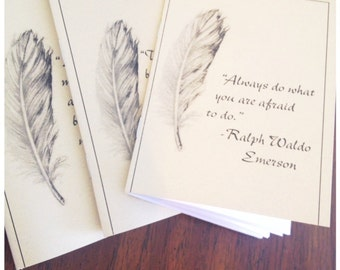 Mini notebooks with inspiring quotes