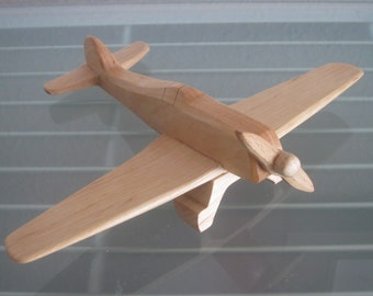 Focker Wulf  airplane flier vintage wood handmade