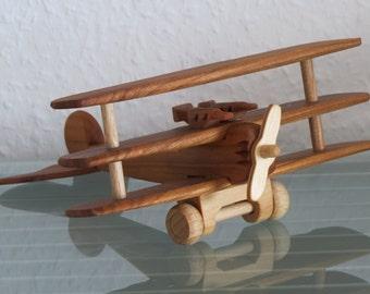 Oldtimer Oldtimer Fokker Foker airplane aviator fighter pilot The Red Baron Richthofen crafted wood NEW