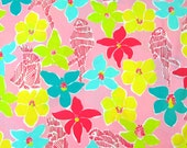 """Lilly Pulitzer fabric """"Parrot-ise"""" 1 yard  X 57 inches"""