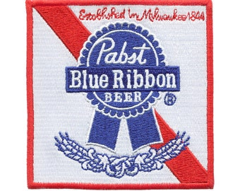 Awesome Large 9cm Pabst Blue Ribbon PBR Beer Patch Badge for Hat Cap Jacket